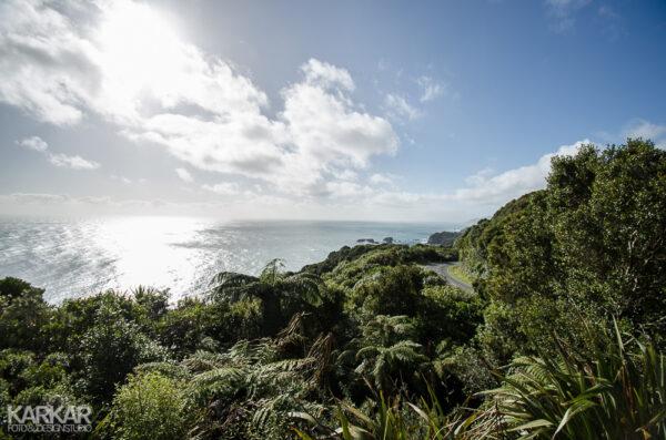 Autoweg in Nieuw Zeeland