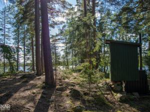 Eco toilet in Zweedse natuur