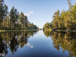 Spiegelmeer in Zweden