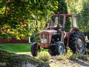 Ouderwetse Zweedse tractor