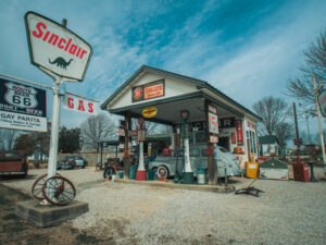 Sinclair tankstation Route 66