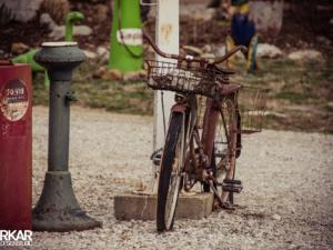 Verroeste fiets