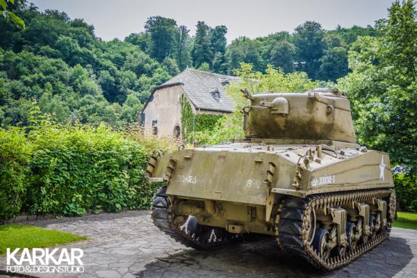 Oude tank in Luxemburg